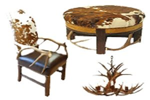 Cowhide and Antler Furniture
