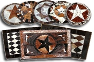 Stitched Cowhide Area Rugs