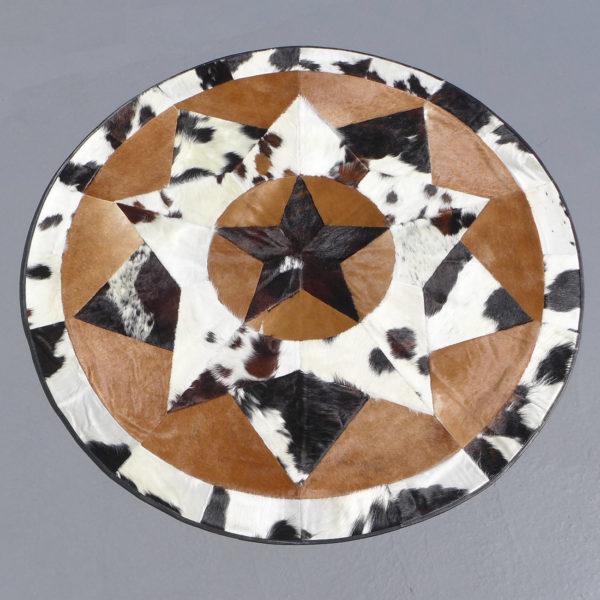 star cowhide rug