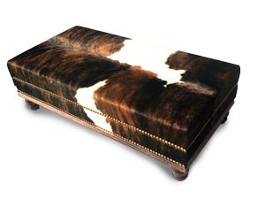 Exclusive Custom Made Cowhide Ottomans