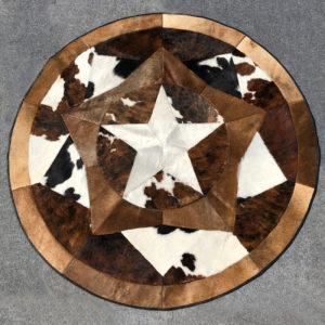 round star cowhide rug