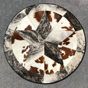 lacced cowhide rug