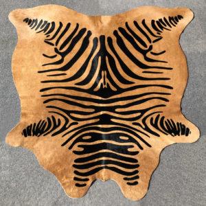 stenciled zebra cowhide