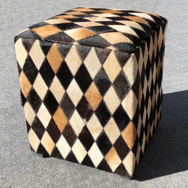 cowhide footstool