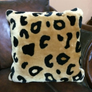 Stenciled Cheetah Print Pillow
