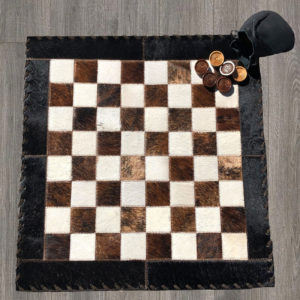 cowhide checker board