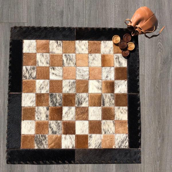 cowhide checker board