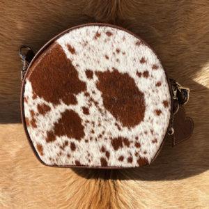 cow hide purse