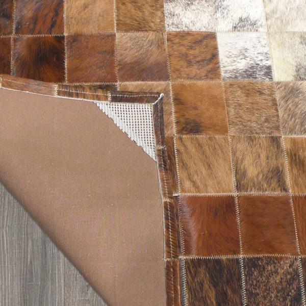 cowhide patchwork designer rug